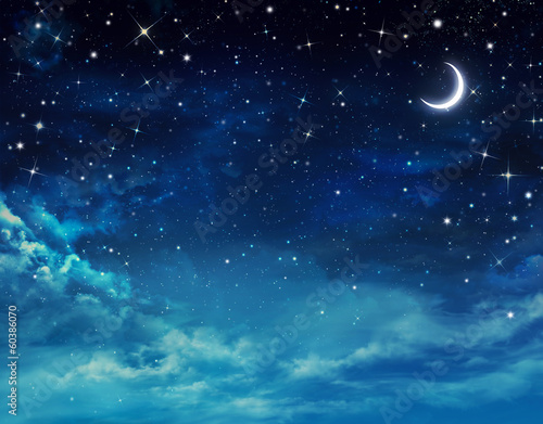 canvas print picture beautiful background, nightly sky