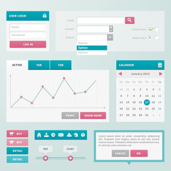 Trend UI components for web or e-shop