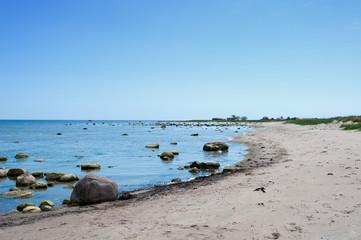 Am Strand - Badestrand auf Öland, Schweden