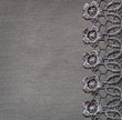 Gray lace on gray jersey for background