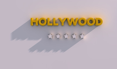 Hollywood and stars 3d