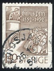 Olaus Petri Preaching