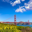 Golden Gate Bridge San Francisco from Presidio California