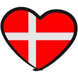 Denmark Danmark Heart Logo poster