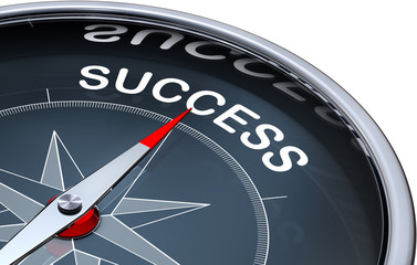 compass with a success icon
