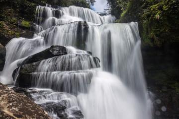 Tat Tha Jet waterfall on Bolaven plateau in Laos