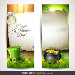 St. Patrick's Day - Set of two vertical banners