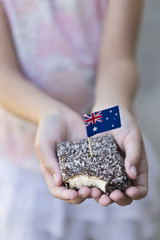 lamington with flag