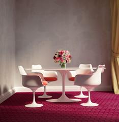 Romantic modern vintage  elegant dining room