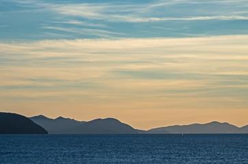 Elba island on sunset