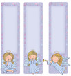 Vertical banner with cute angels