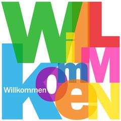 """""""WILLKOMMEN"""" Karte (Kundendienst Kontakt Service)"""