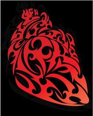 heart shape tattoo design