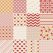 seamless heart retro pattern