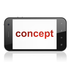Marketing concept: Concept on smartphone