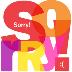 """SORRY!"" Letter Collage (apologies message card regret regards)"