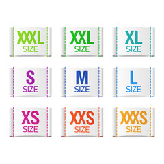 Size clothing labels