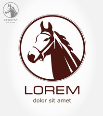 Horse symbol. Vector illustration.