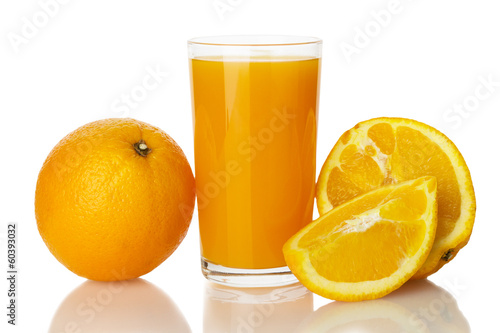 orange juice with orange