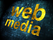 SEO web development concept: Web Media on digital background