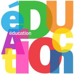"""Mosaïque de Lettres """"EDUCATION"""" (études enseignement formation)"""
