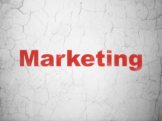 Marketing concept: Marketing on wall background