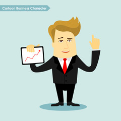 Cartoon business character vector illustration