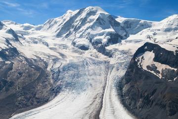 Lyskamm and Grenz glacier