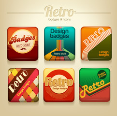 Vector retro badges set