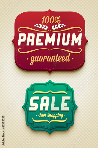 Vector sale badges