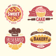 Bakery badges set
