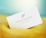 Business card mockup poster