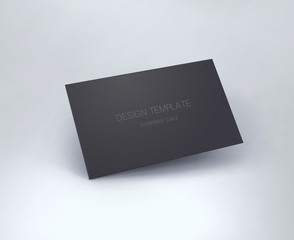 Business card mockup. vector
