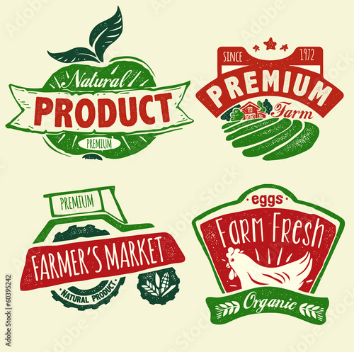 Natural product badges