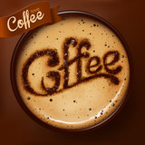 Poster with a coffee cup. Vector - 60395434