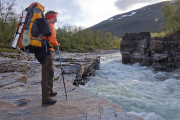 Wildwasser am Kungsleden