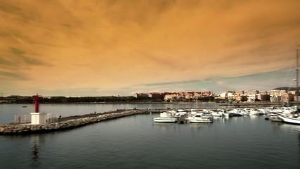 Breakwater in Marina San Gabriel in Alicante