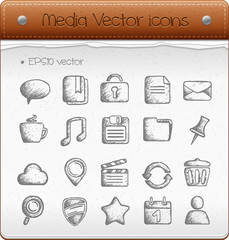 Media vector icons