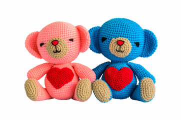 couple crochet bear at handmade