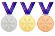Médailles pour les jeux d'hiver