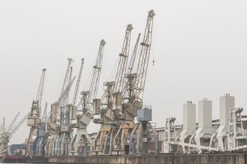 Hamburg, Hafen, Kranen, Hafenarbeit, Frachtschiffe, Deutschland