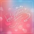 Happy Valentines Typography Background
