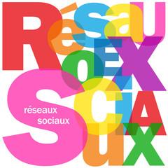 """Mosaïque de Lettres """"RESEAUX SOCIAUX"""" (médias internet web)"""