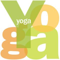 """Mosaïque de Lettres """"YOGA"""" (méditation relaxation lotus zen)"""