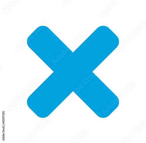 Delete  -Vector clean blue icon