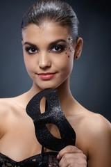 Carnival portrait of attractive woman