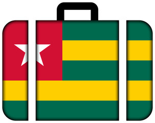 Suitcase with Togo Flag