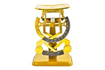 Goldene Briefwaage
