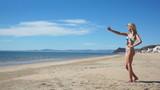 Beach Bikini Girl Selfie poster