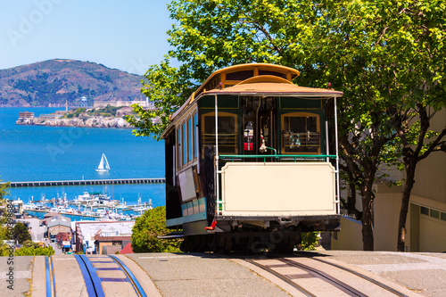 Foto op Aluminium San Francisco San francisco Hyde Street Cable Car California